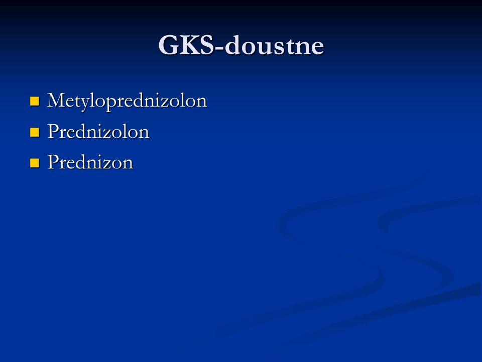 GKS-doustne Metyloprednizolon Prednizolon Prednizon