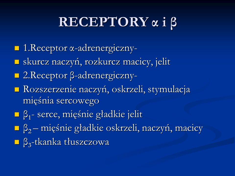 RECEPTORY α i β 1.Receptor α-adrenergiczny-