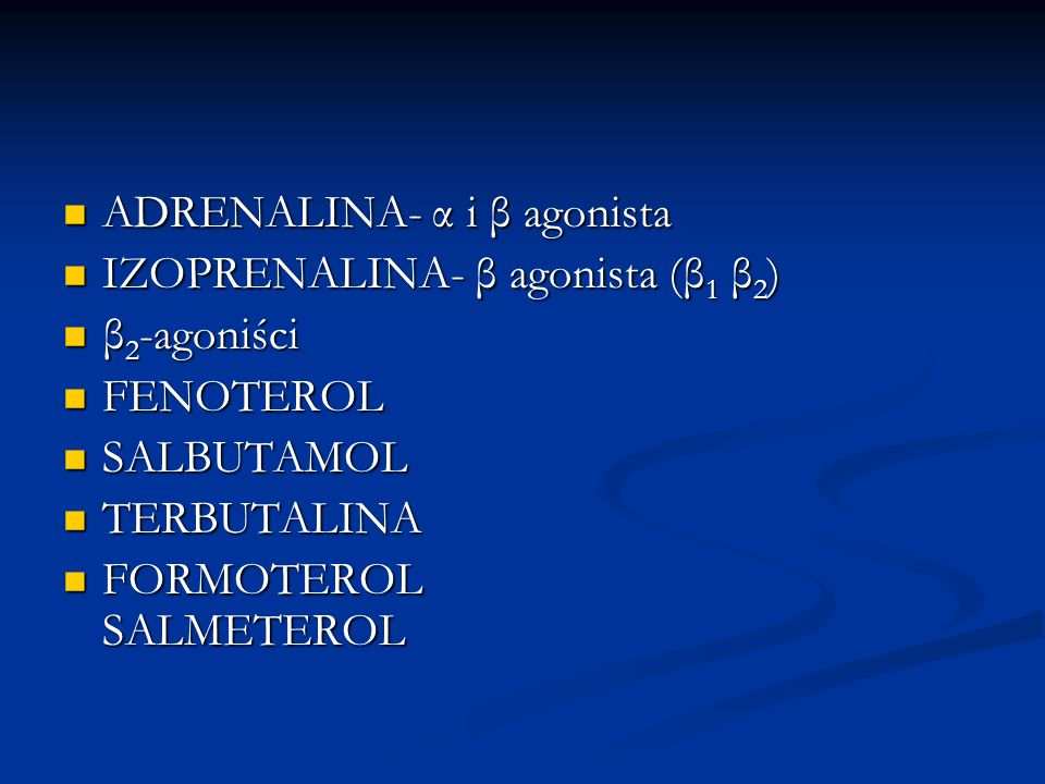 ADRENALINA- α i β agonista