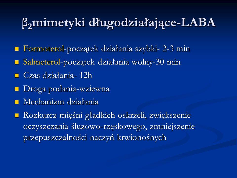 β2mimetyki długodziałające-LABA