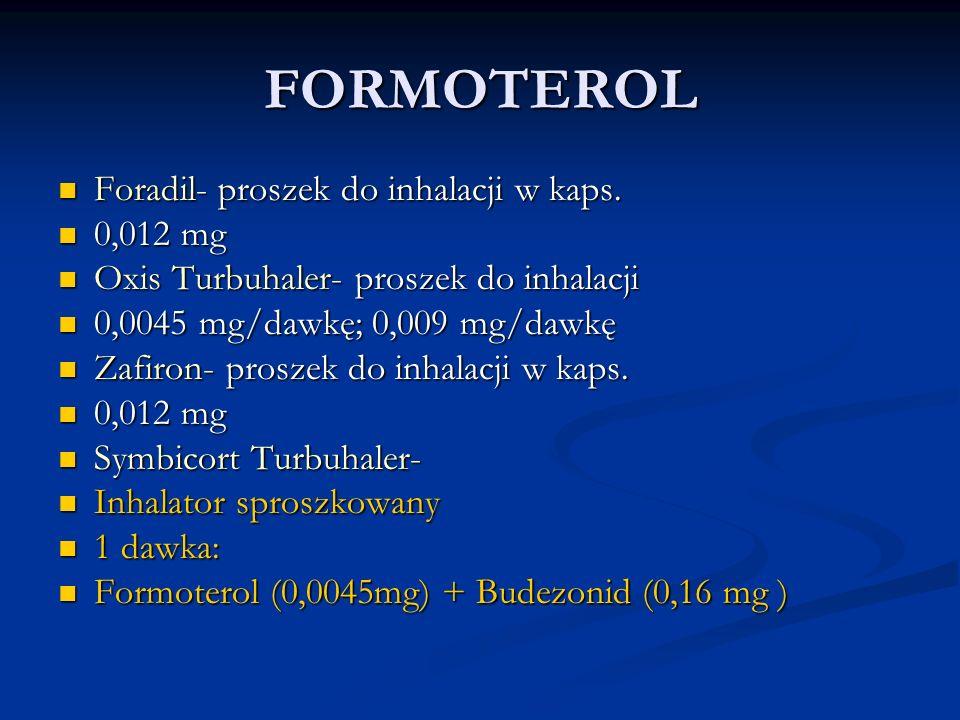 FORMOTEROL Foradil- proszek do inhalacji w kaps. 0,012 mg