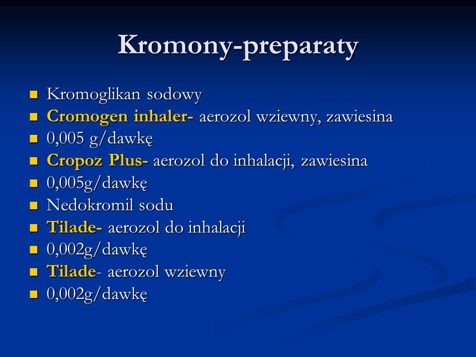 Kromony-preparaty Kromoglikan sodowy