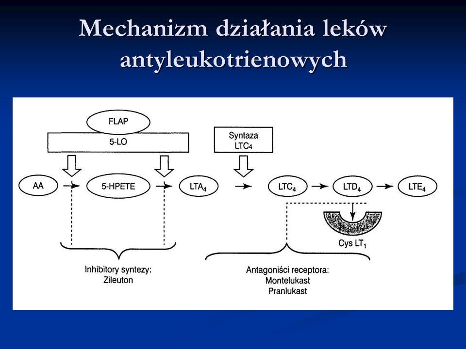 Mechanizm działania leków antyleukotrienowych