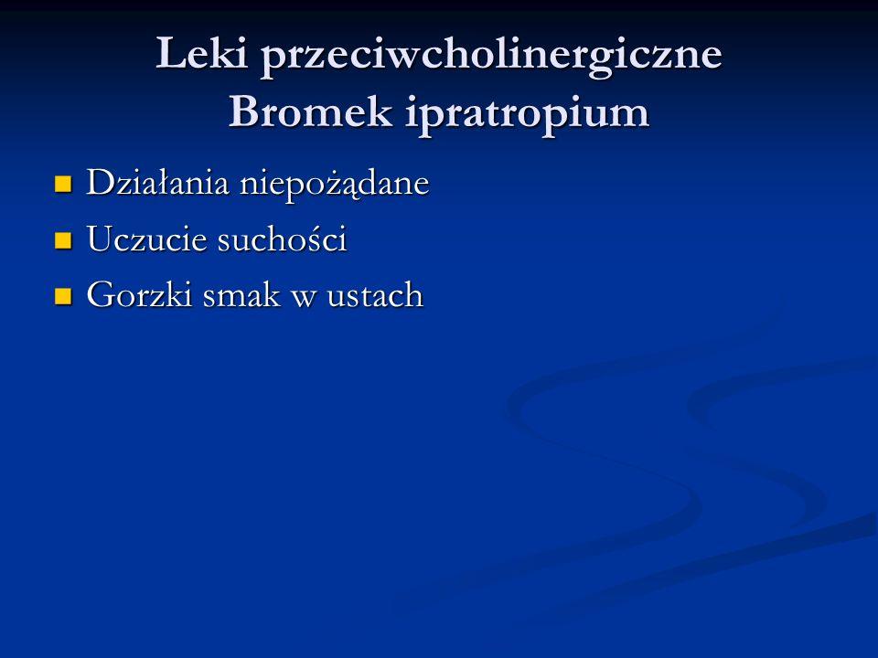 Leki przeciwcholinergiczne Bromek ipratropium
