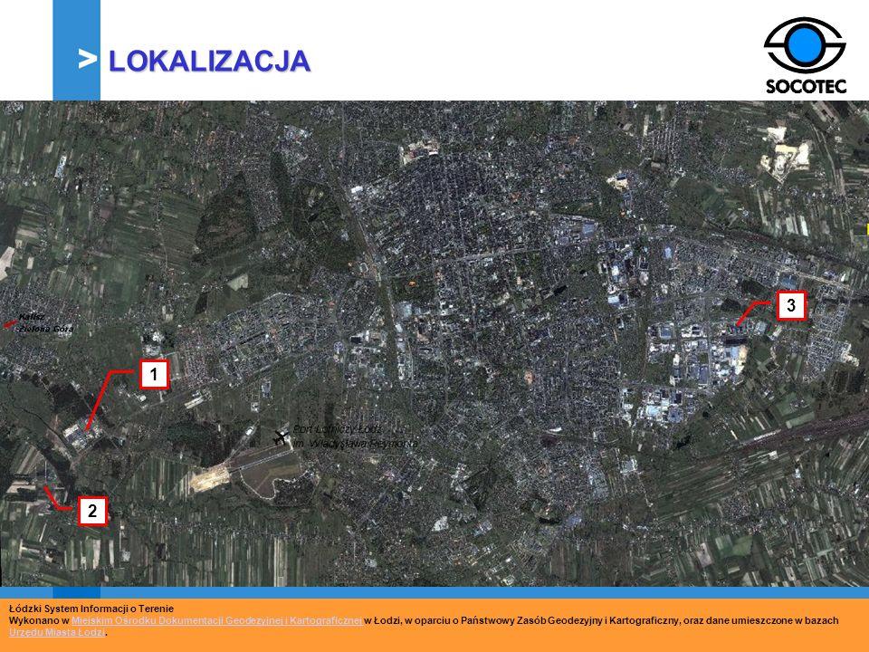 LOKALIZACJA 3 1 2 Łódzki System Informacji o Terenie