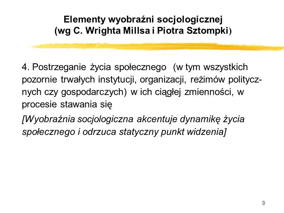 Elementy wyobraźni socjologicznej