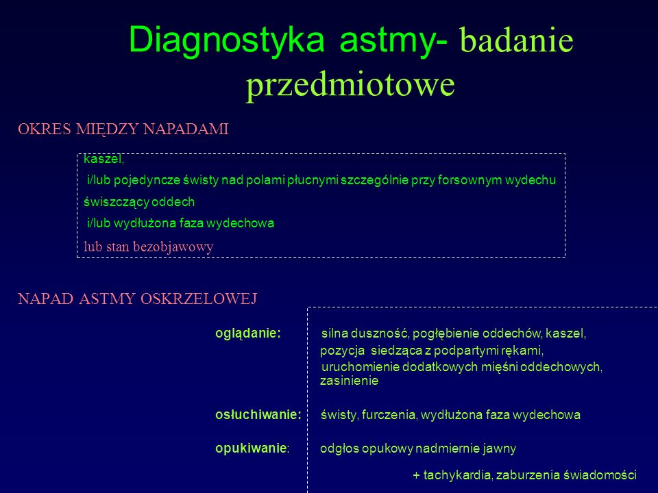Diagnostyka astmy- badanie przedmiotowe
