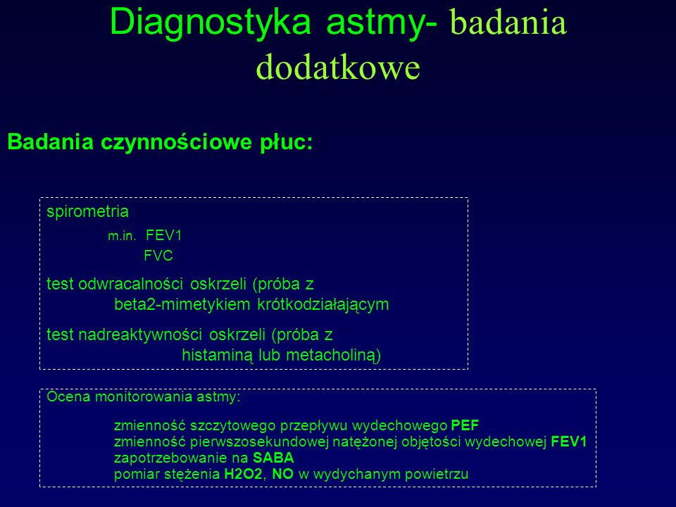 Diagnostyka astmy- badania dodatkowe