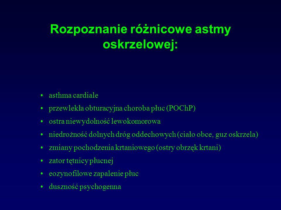 Rozpoznanie różnicowe astmy oskrzelowej: