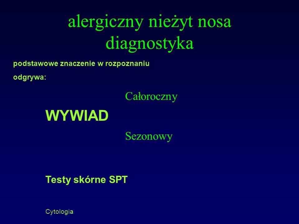 alergiczny nieżyt nosa diagnostyka