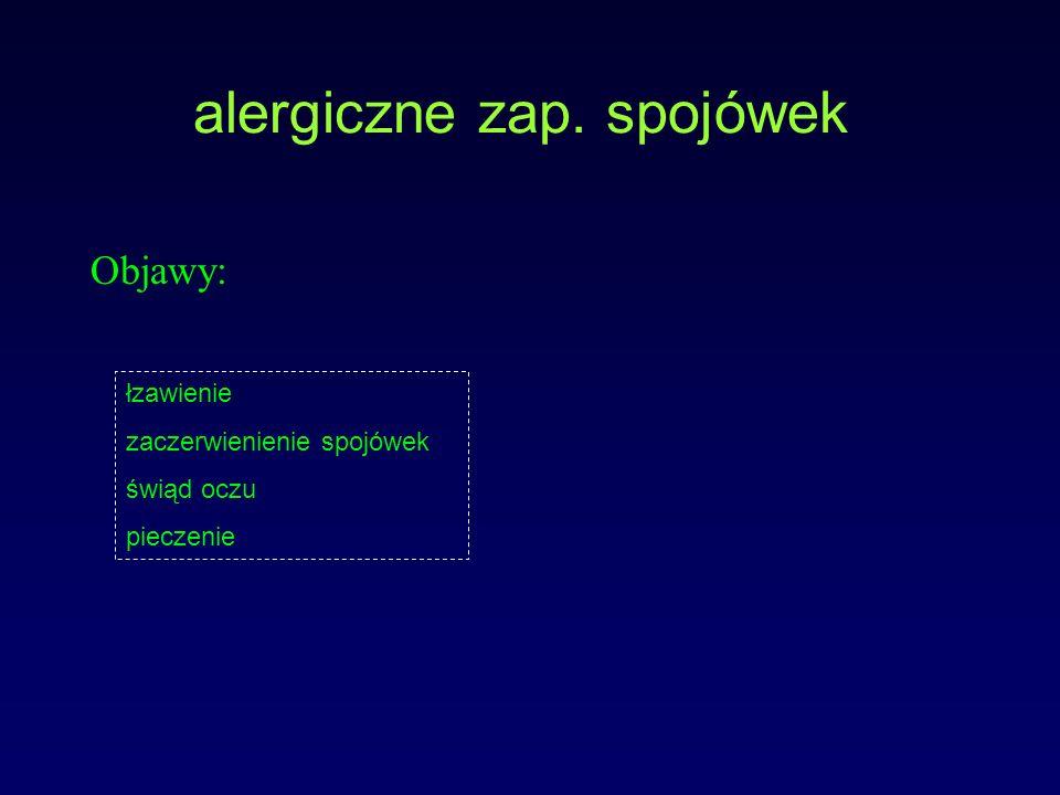 alergiczne zap. spojówek