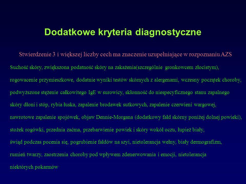 Dodatkowe kryteria diagnostyczne