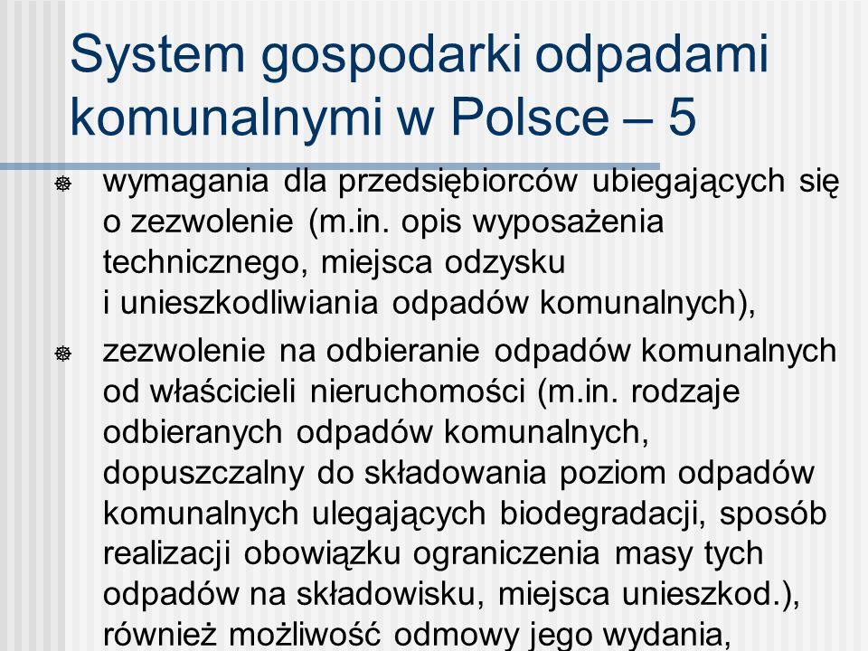 System gospodarki odpadami komunalnymi w Polsce – 5