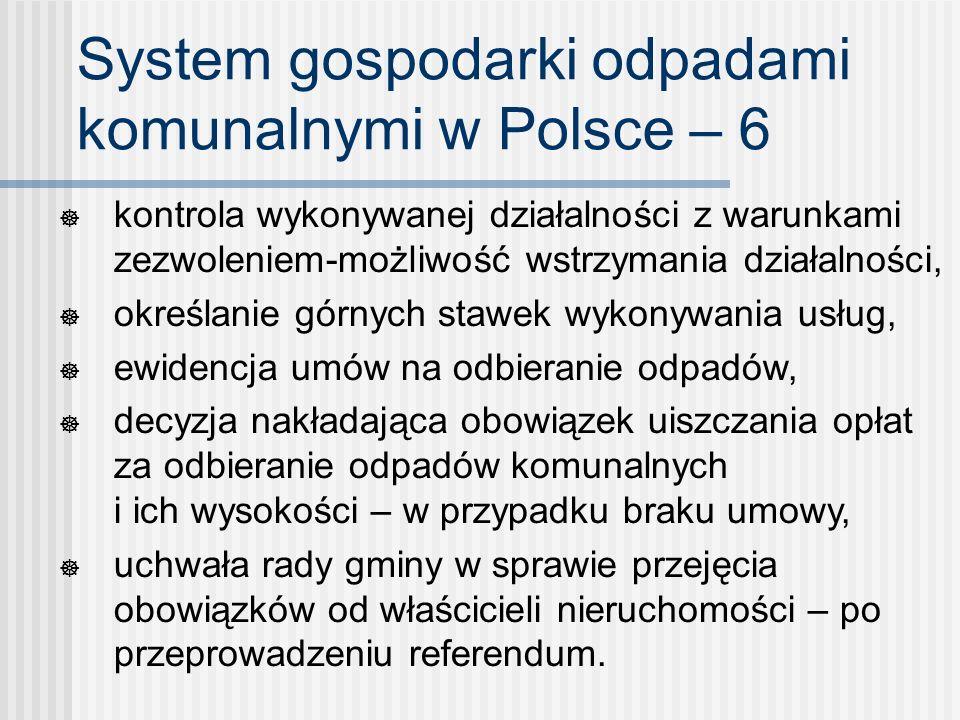 System gospodarki odpadami komunalnymi w Polsce – 6