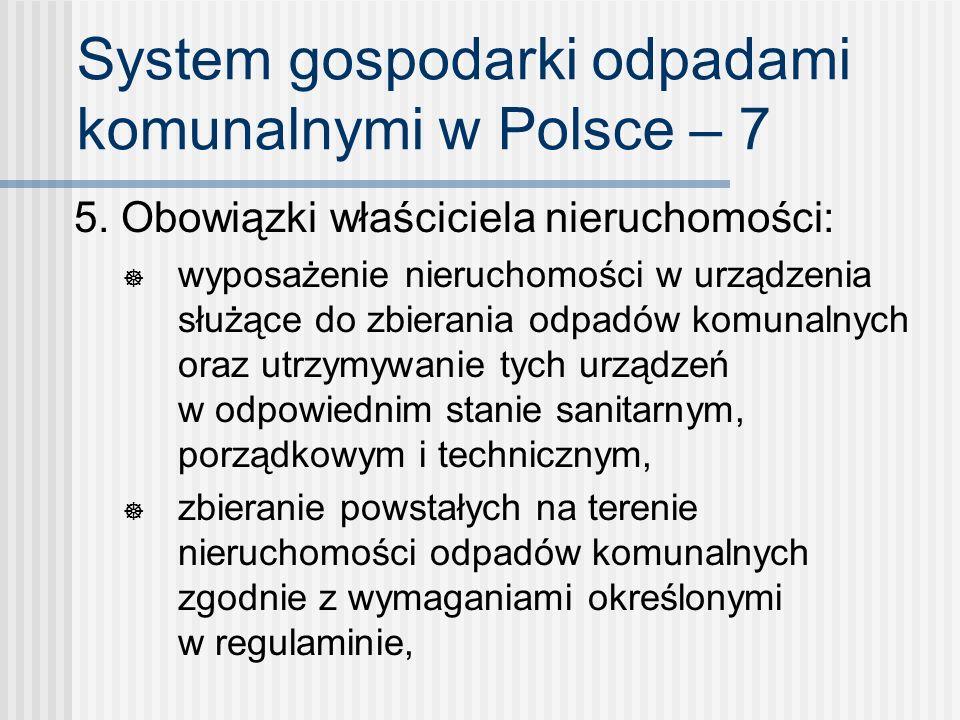 System gospodarki odpadami komunalnymi w Polsce – 7