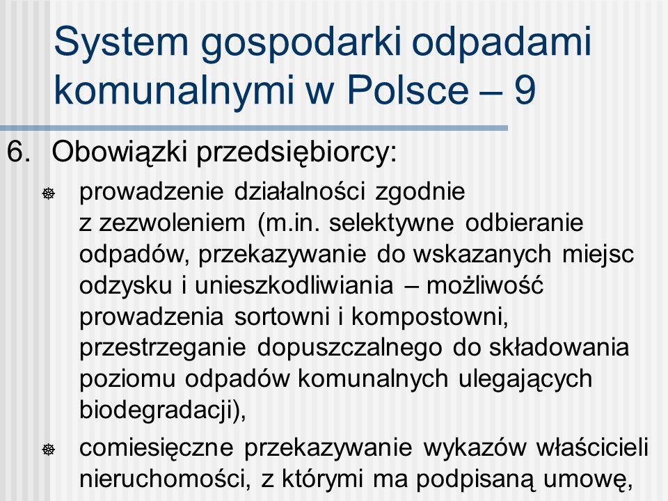 System gospodarki odpadami komunalnymi w Polsce – 9