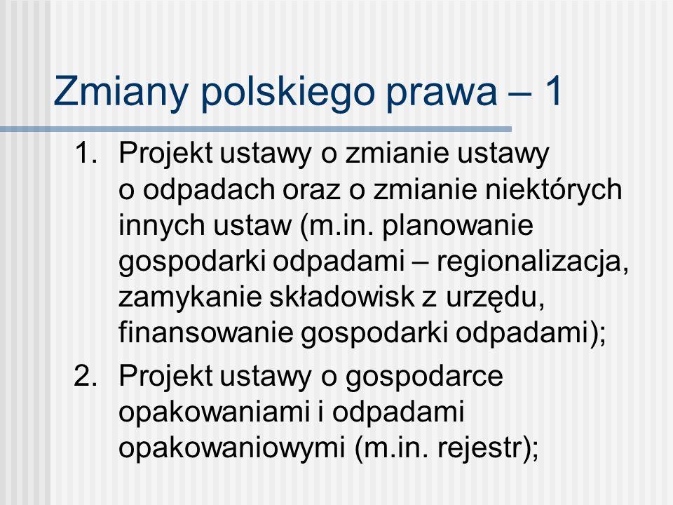 Zmiany polskiego prawa – 1