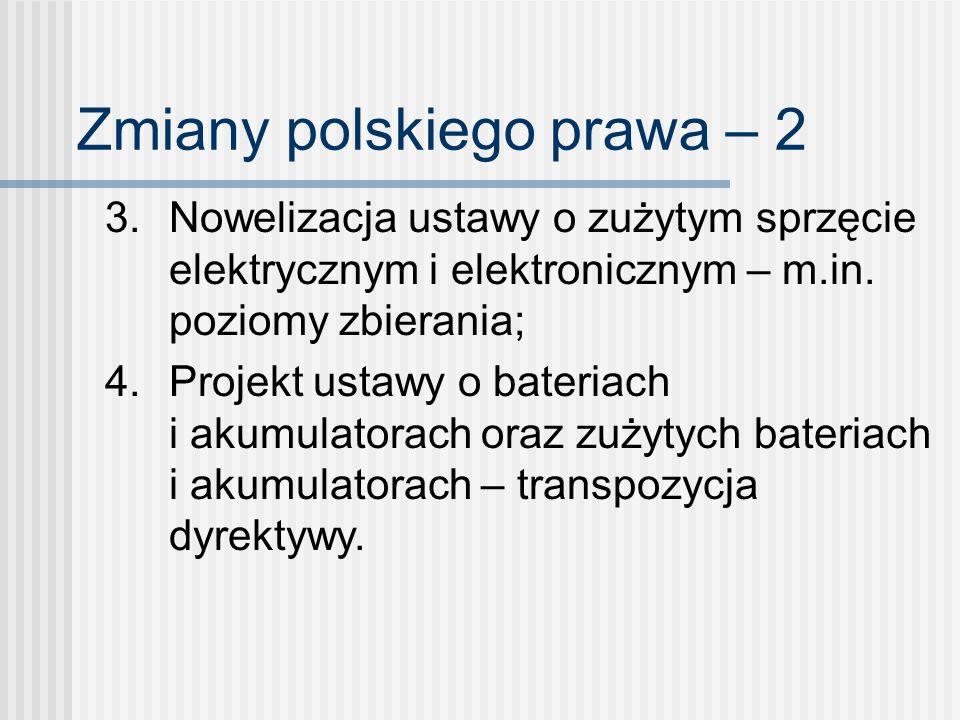 Zmiany polskiego prawa – 2