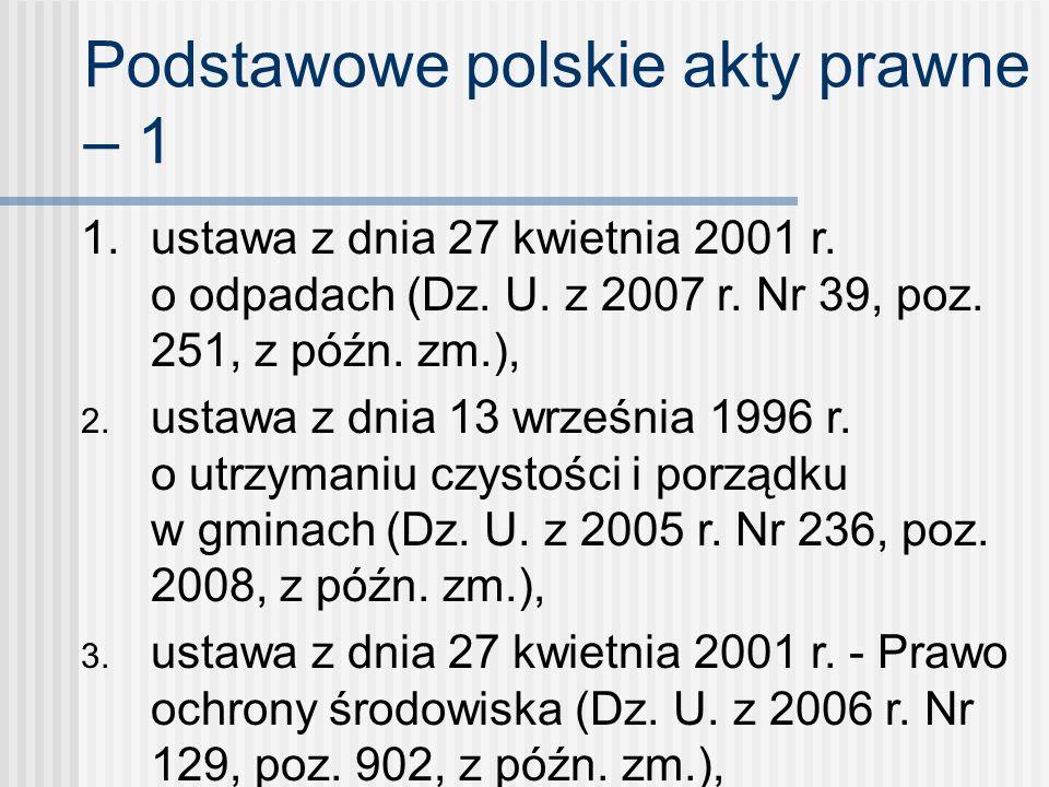Podstawowe polskie akty prawne – 1