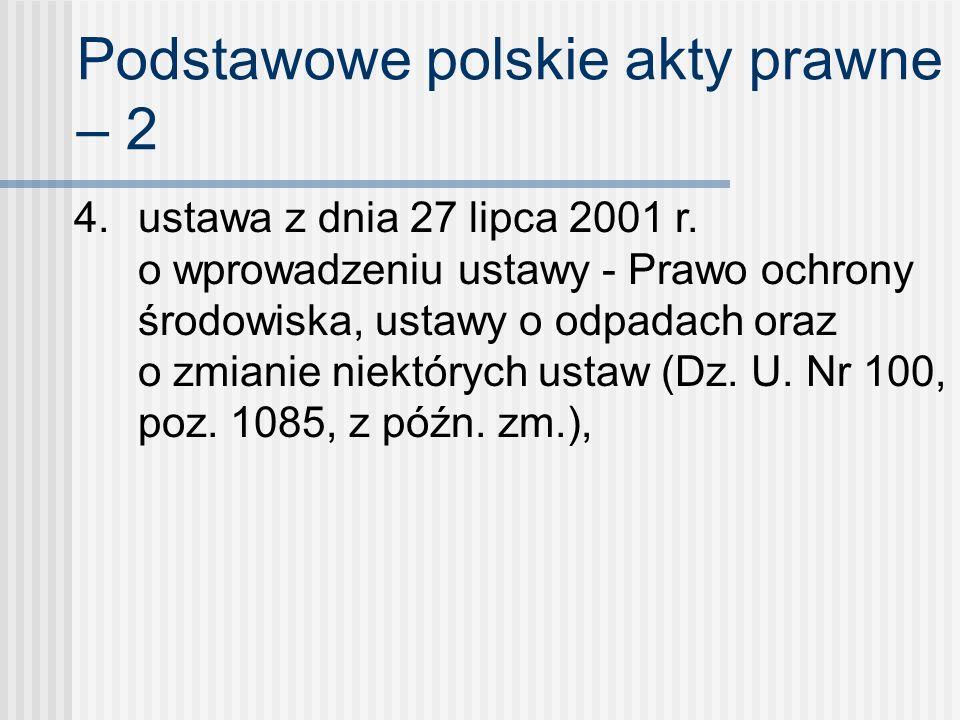 Podstawowe polskie akty prawne – 2