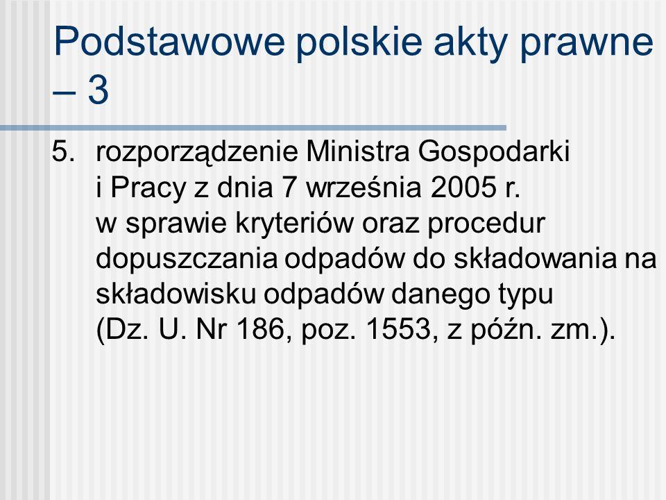 Podstawowe polskie akty prawne – 3