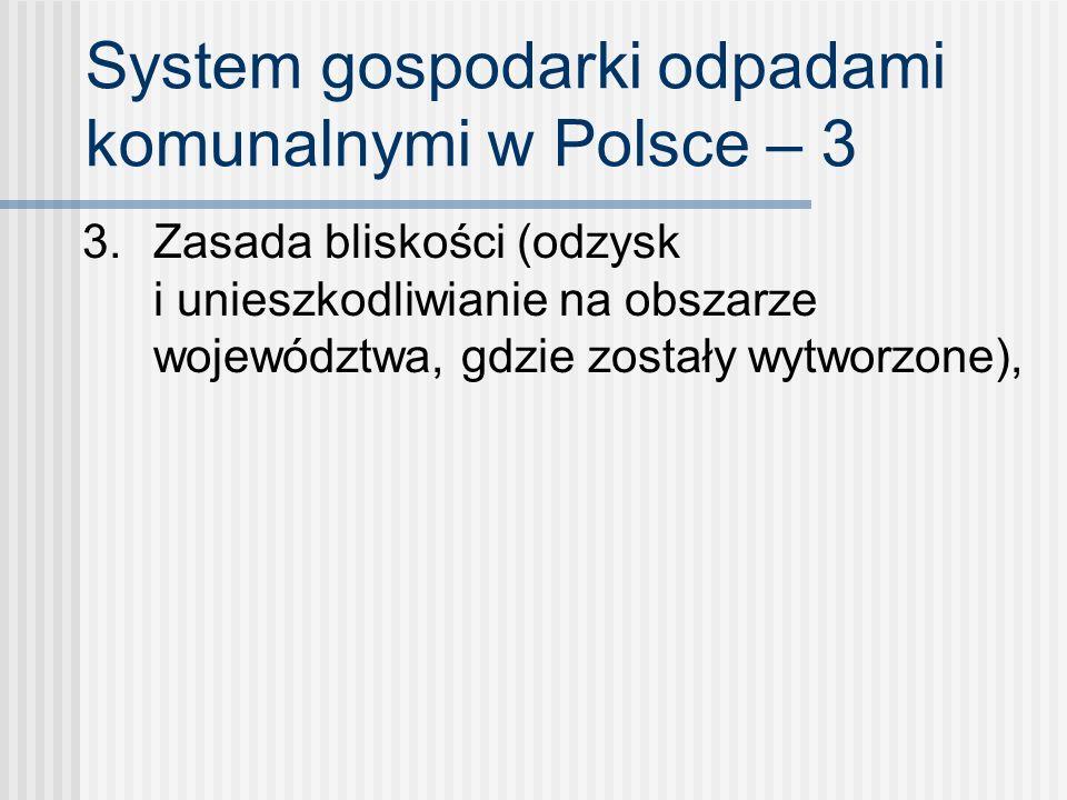System gospodarki odpadami komunalnymi w Polsce – 3