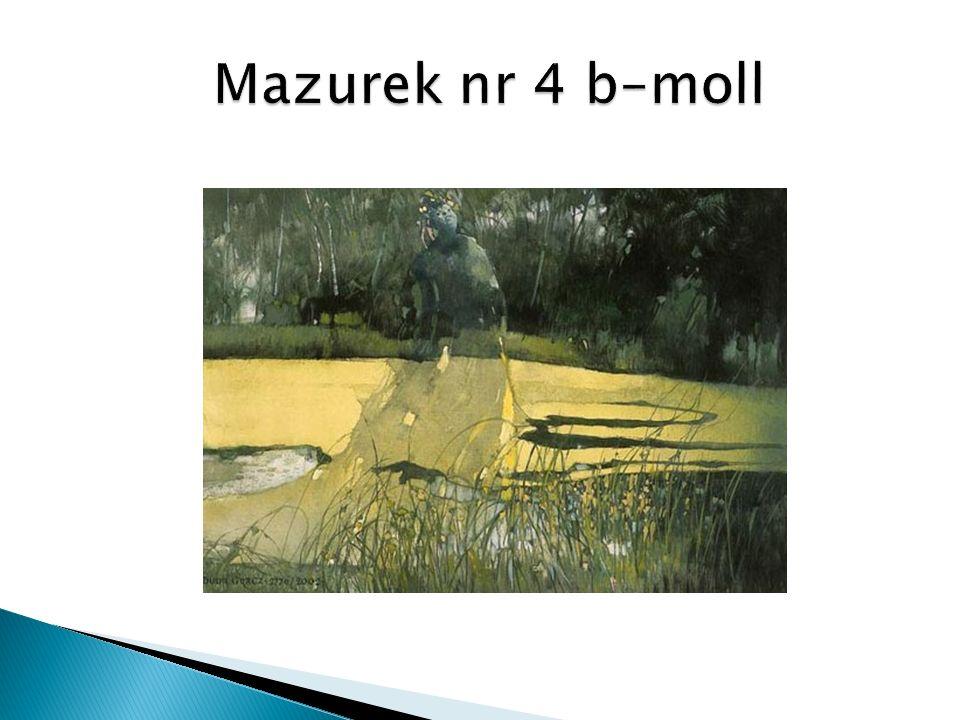 Mazurek nr 4 b–moll