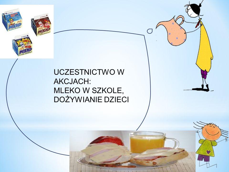UCZESTNICTWO W AKCJACH: