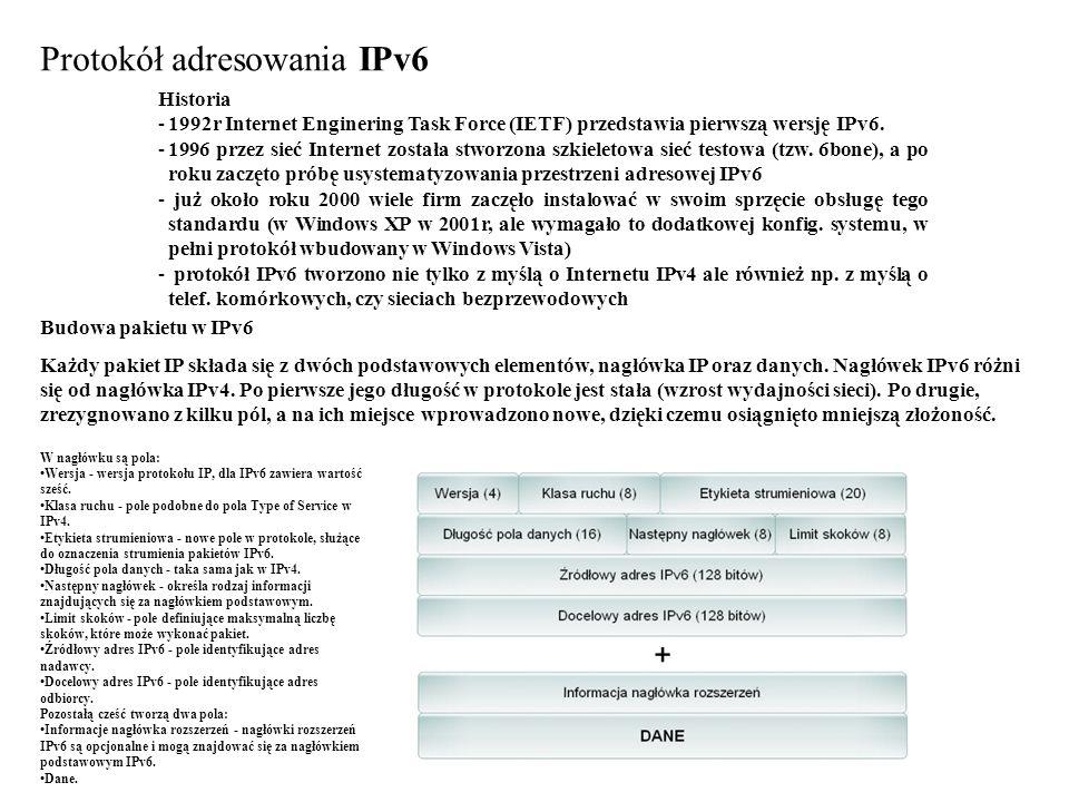 Protokół adresowania IPv6