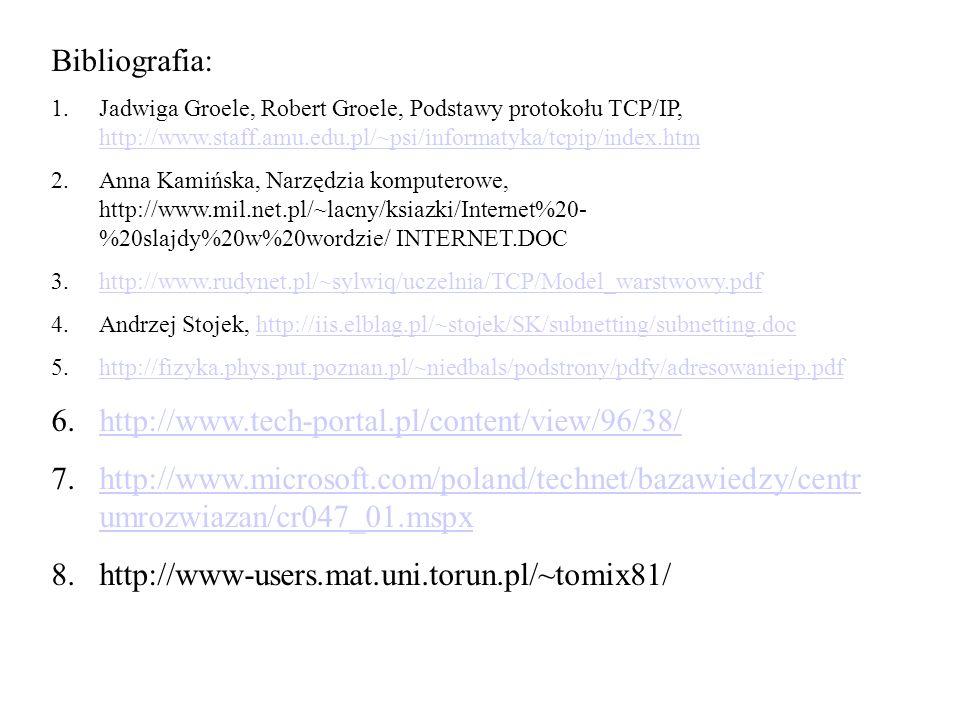 Bibliografia: http://www.tech-portal.pl/content/view/96/38/