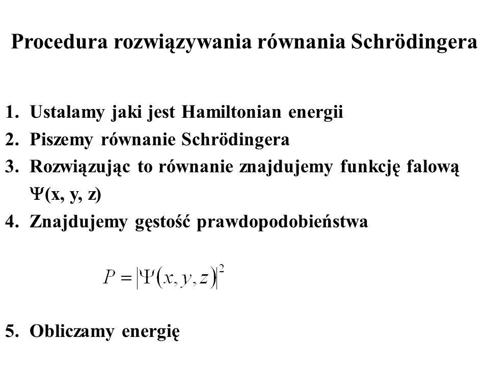 Procedura rozwiązywania równania Schrödingera