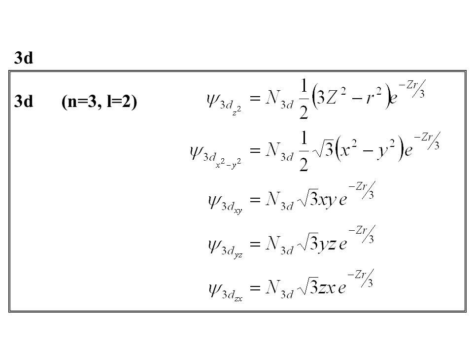 3d 3d (n=3, l=2)