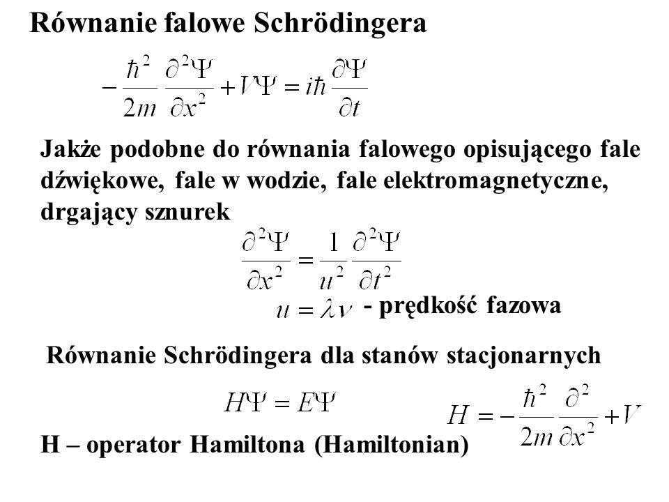 Równanie falowe Schrödingera