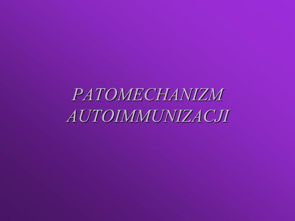 PATOMECHANIZM AUTOIMMUNIZACJI