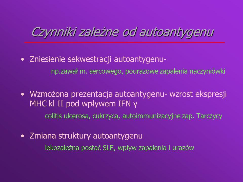Czynniki zależne od autoantygenu