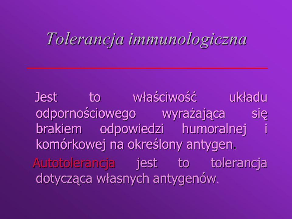 Tolerancja immunologiczna