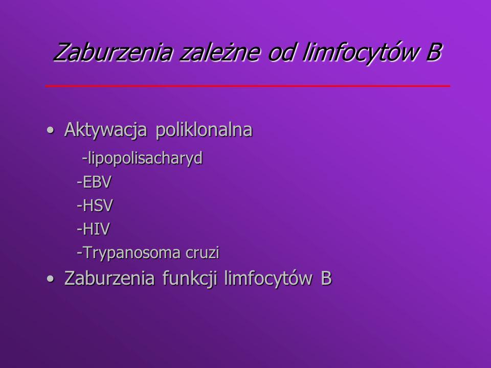 Zaburzenia zależne od limfocytów B