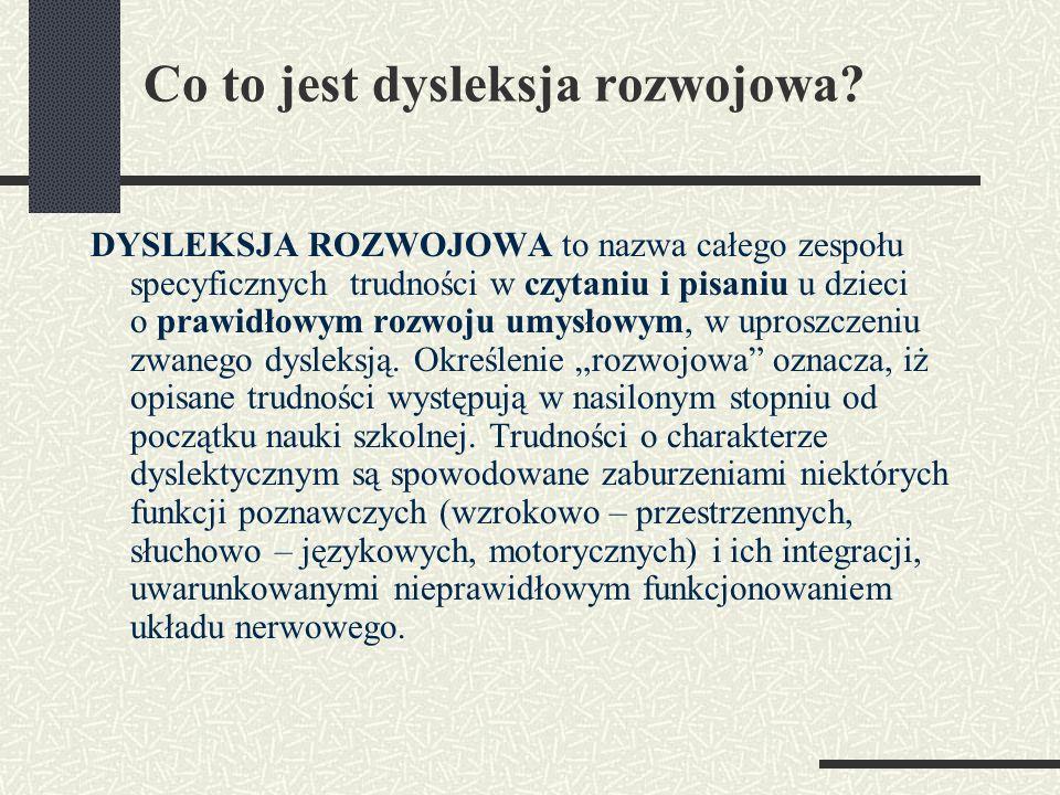 Co to jest dysleksja rozwojowa