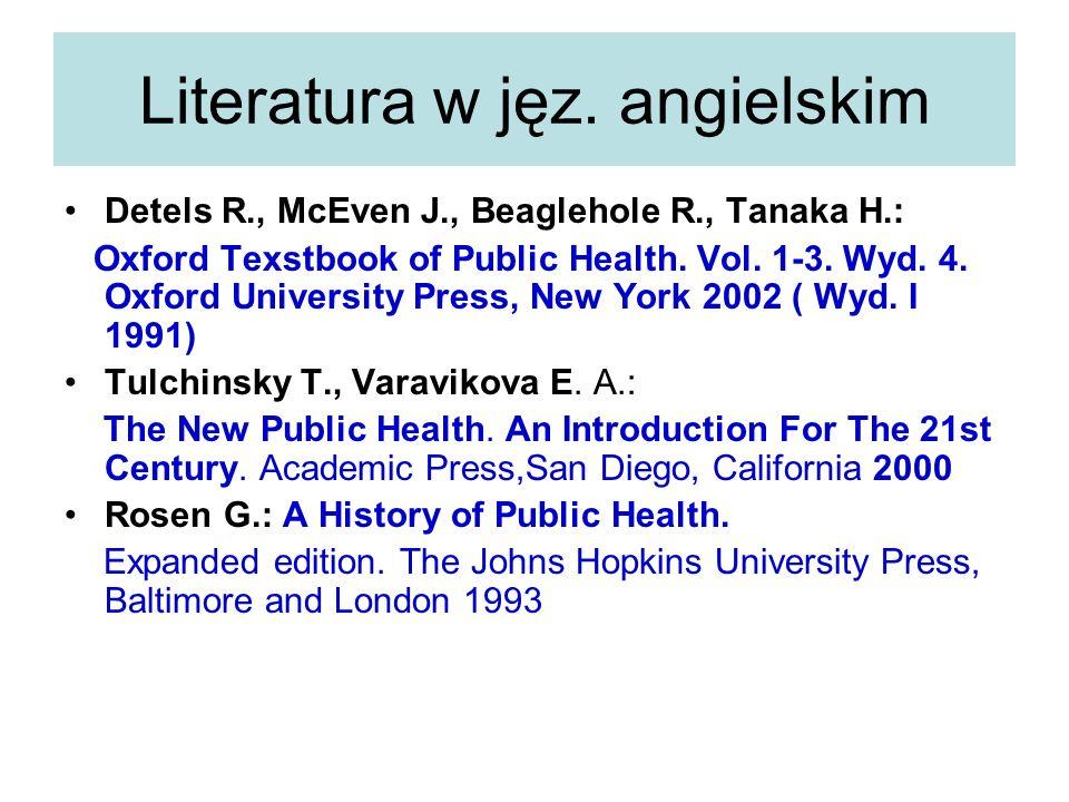 Literatura w jęz. angielskim