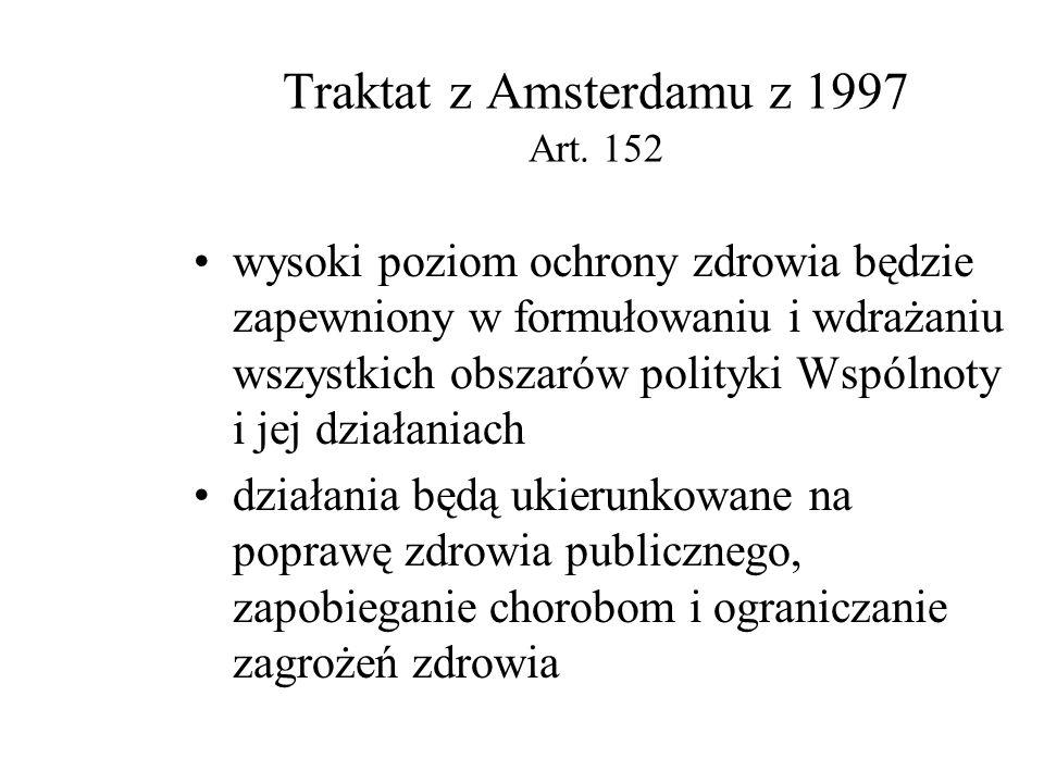 Traktat z Amsterdamu z 1997 Art. 152