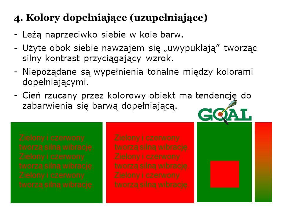 4. Kolory dopełniające (uzupełniające)