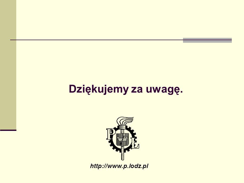 Dziękujemy za uwagę. http://www.p.lodz.pl