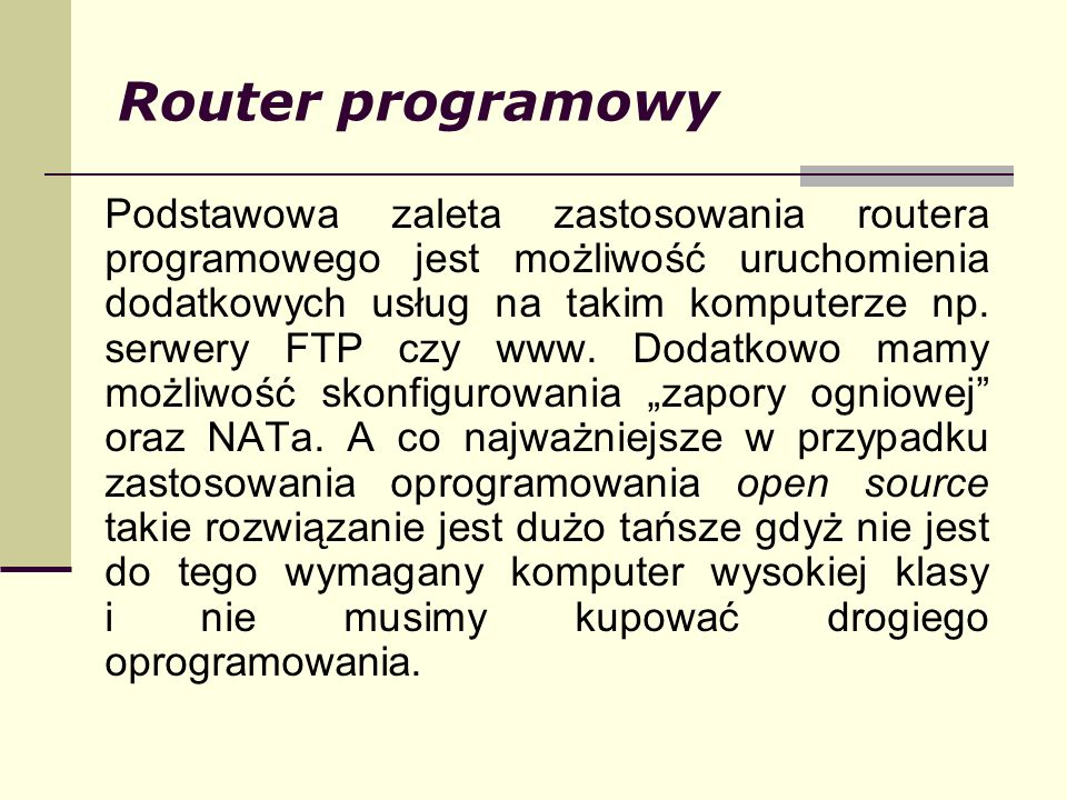 Router programowy
