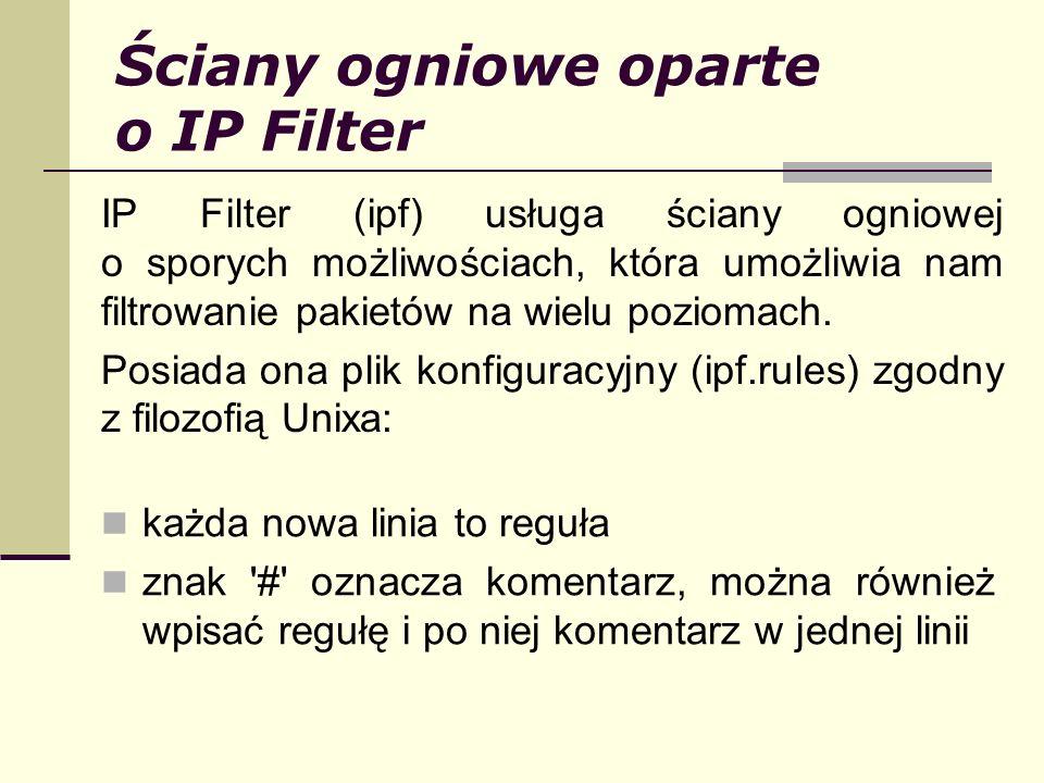 Ściany ogniowe oparte o IP Filter