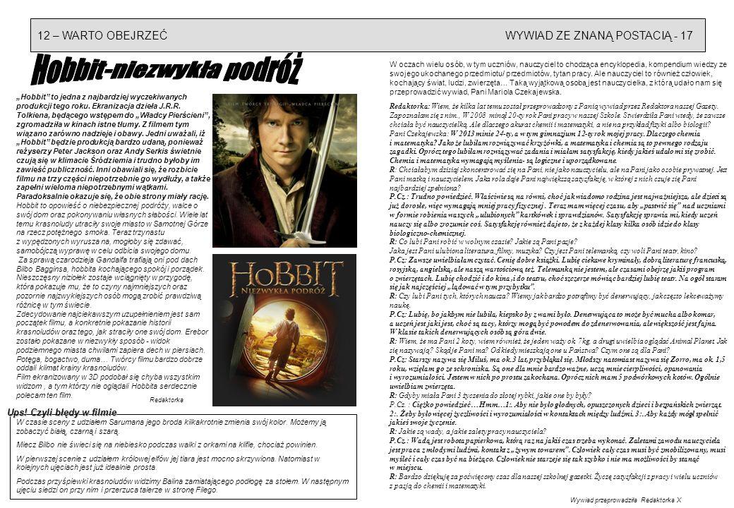 Hobbit-niezwykła podróż