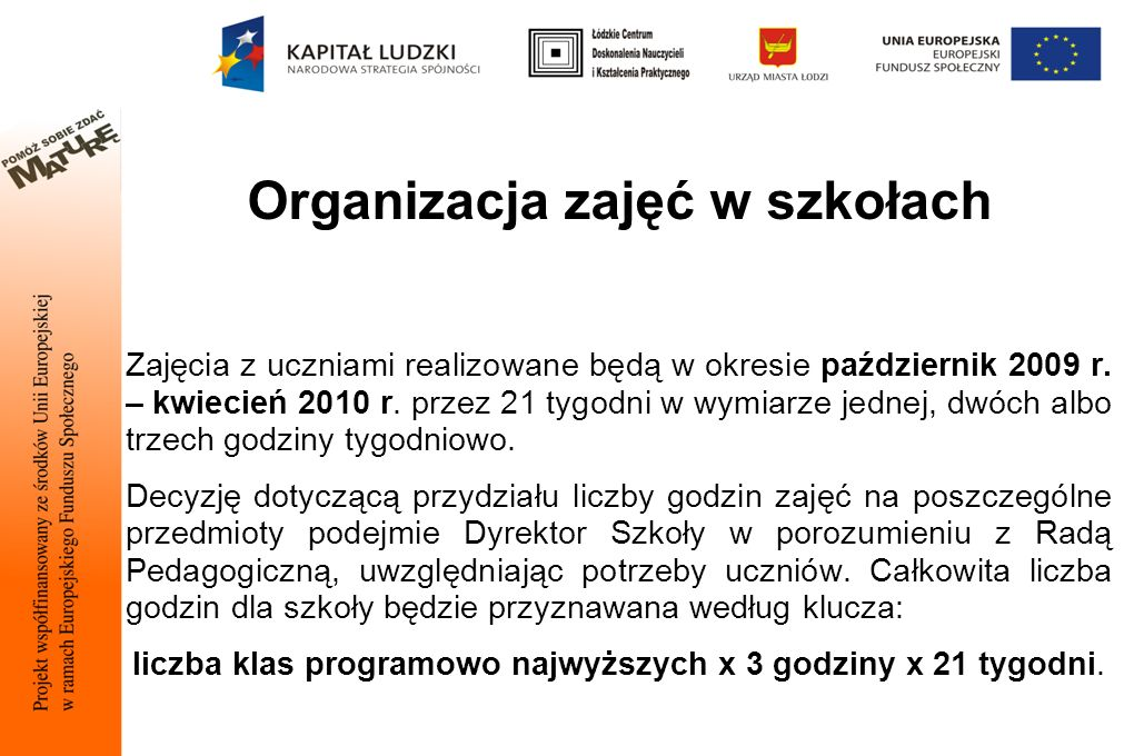 Organizacja zajęć w szkołach