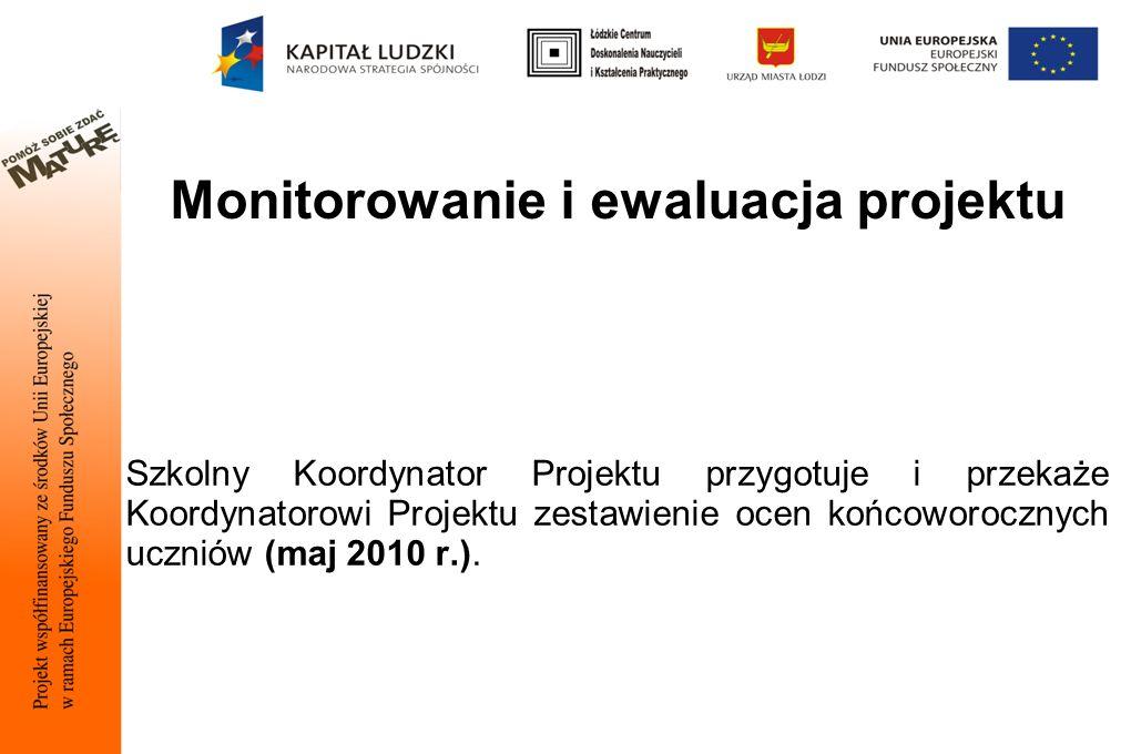 Monitorowanie i ewaluacja projektu
