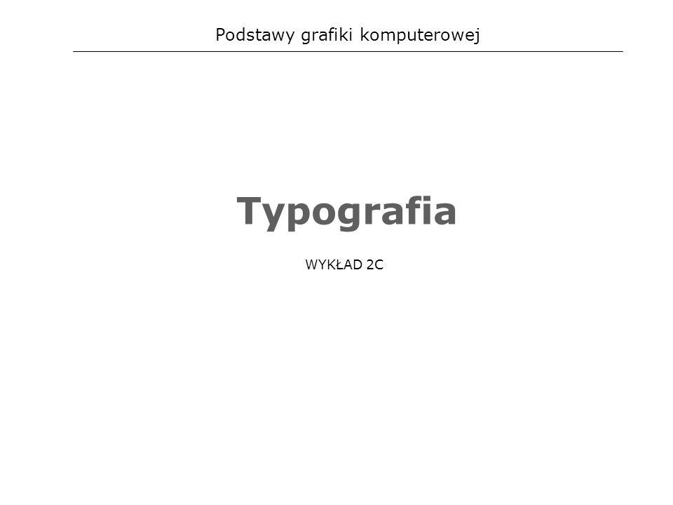 Podstawy grafiki komputerowej