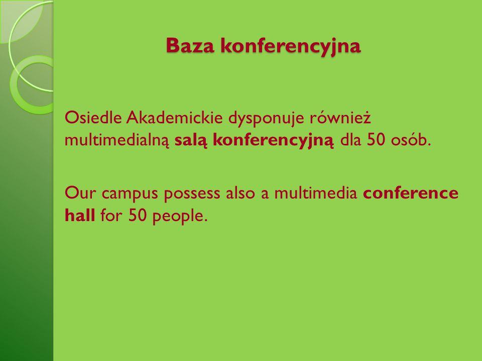 Baza konferencyjna Osiedle Akademickie dysponuje również multimedialną salą konferencyjną dla 50 osób.