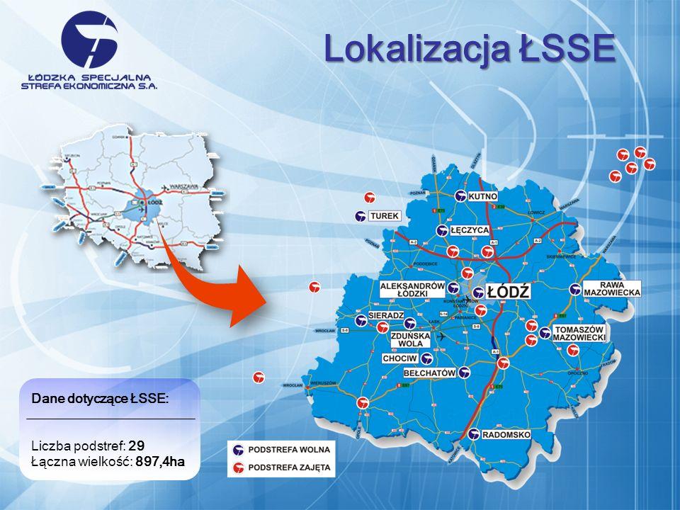 Lokalizacja ŁSSE Dane dotyczące ŁSSE: Liczba podstref: 29